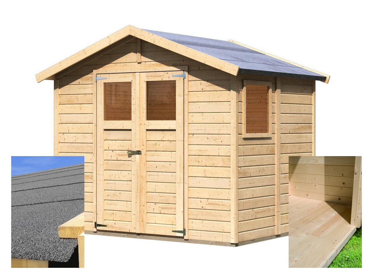dřevěný domek KARIBU DALIN 1 (144438) SET