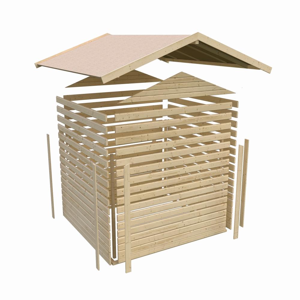 dřevěný domek KARIBU DALIN 1 (14438) SET