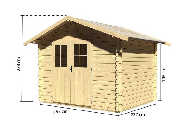 dřevěný domek KARIBU SEEFELD 5 (83136) natur