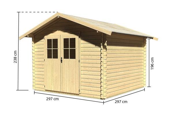 dřevěný domek KARIBU SEEFELD 6 (14524) SET