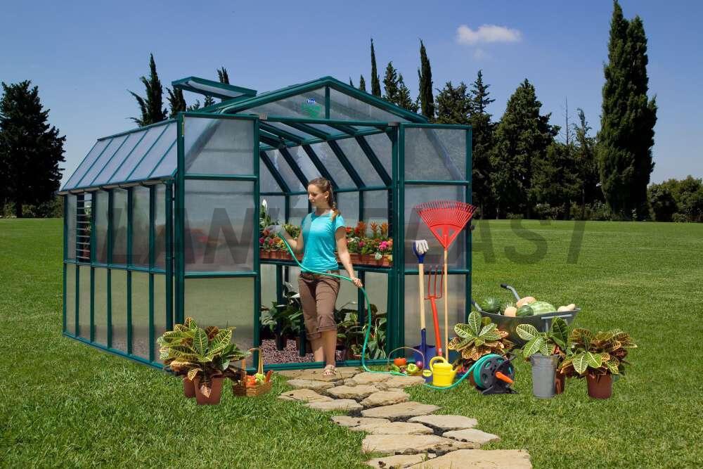 skleník RION PRESTIGEtyp 8x16, rozměr 258 x 507 cm