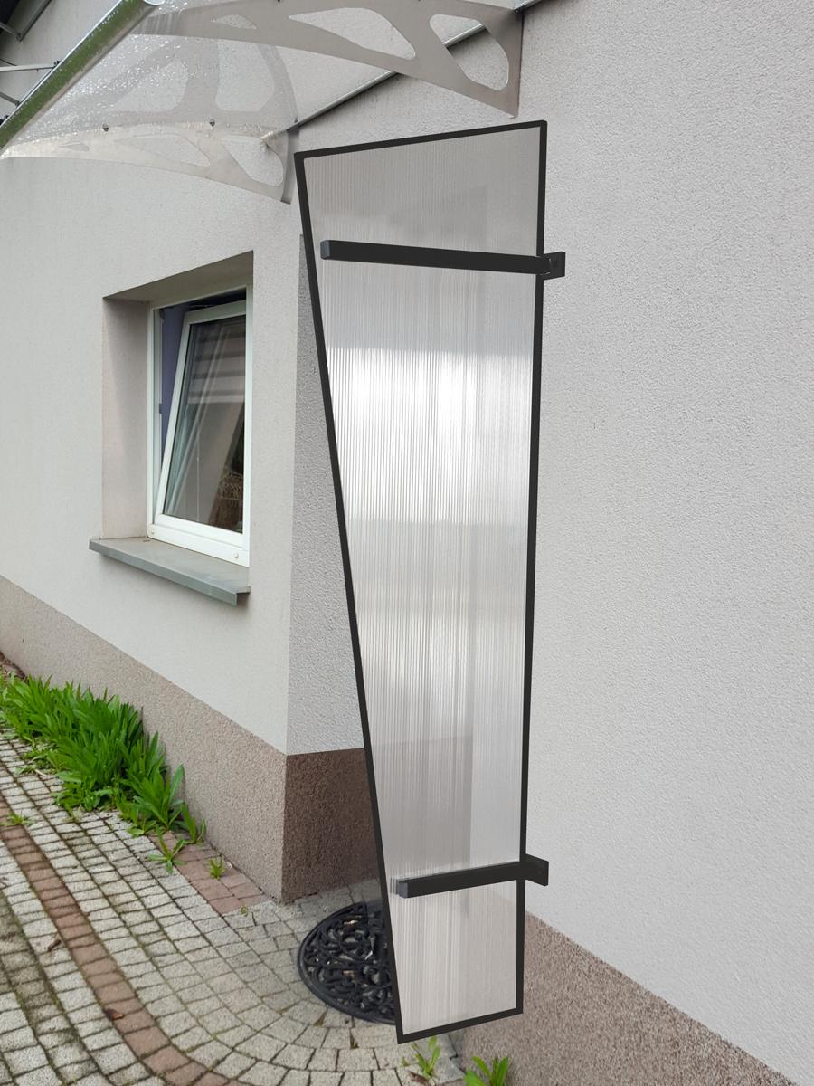 boční stěna LANITPLAST UNI antracit / PC