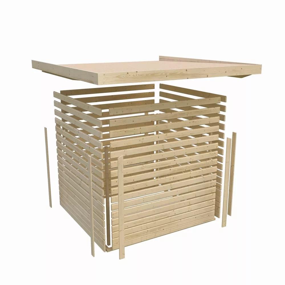 dřevěný domek KARIBU QUBIC 1 (79845) natur