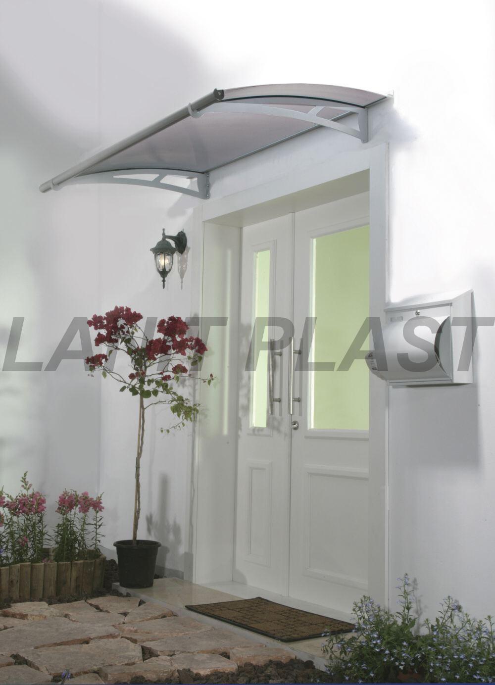 vchodová stříška PALRAM AQUILA 1500 šedá, šedé plexi