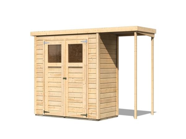 dřevěný domek KARIBU DEVIN (23486) natur