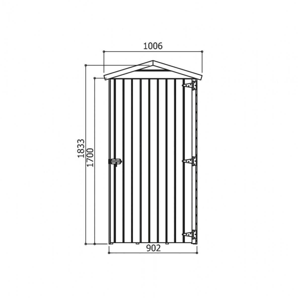 dřevěný domek SOLID ANITA 1 - 90 x 96 cm (S879-1)