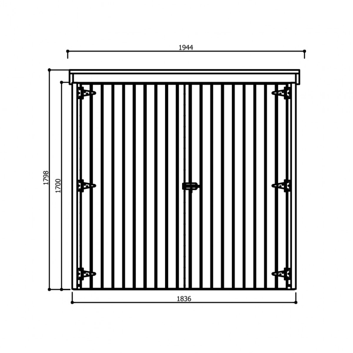 dřevěný domek SOLID DEBORA 2 - 90 x 183 cm (S8582-1)