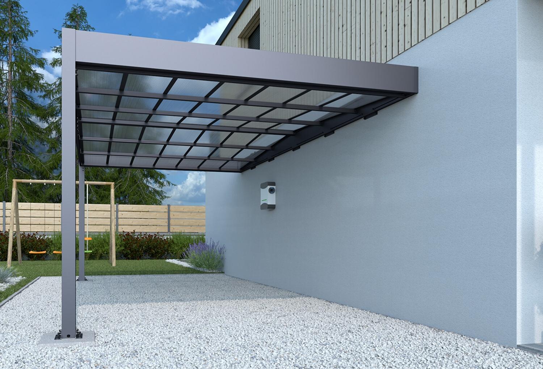 kovový přístřešek / carport TRIGANO JARDIN LIBECCIO WALL