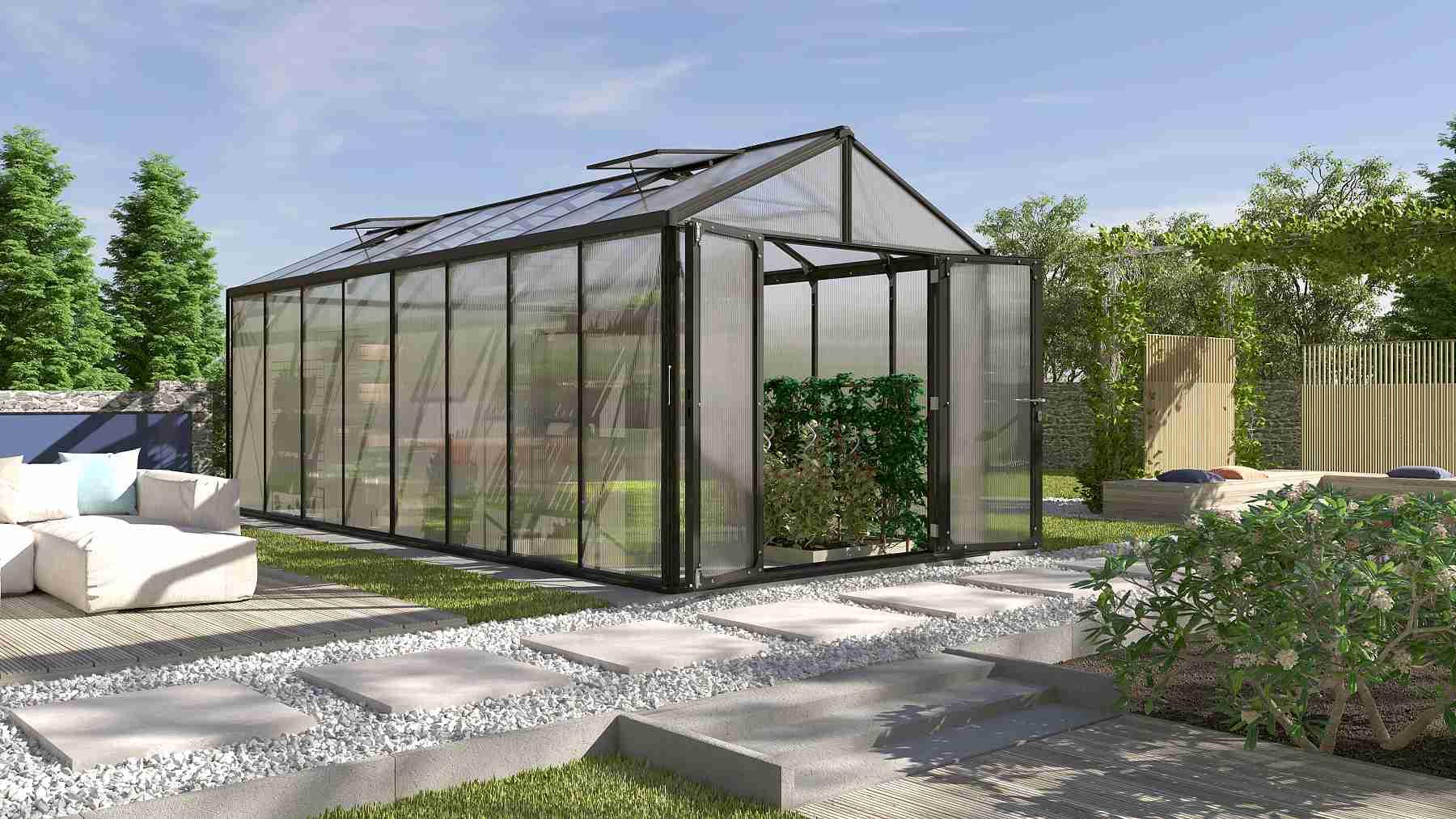 skleník VITAVIA ZEUS 15700 PC 6+10 mm