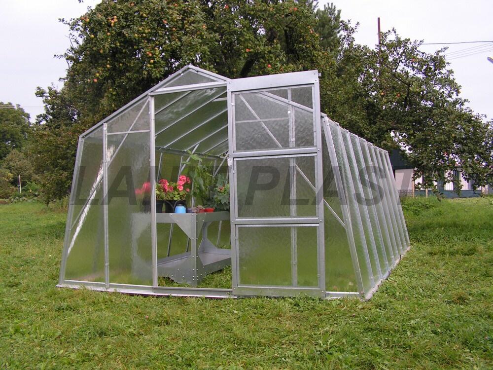 skleník VITRUM PROFI 6300 prosklení - zahrádkářské sklo