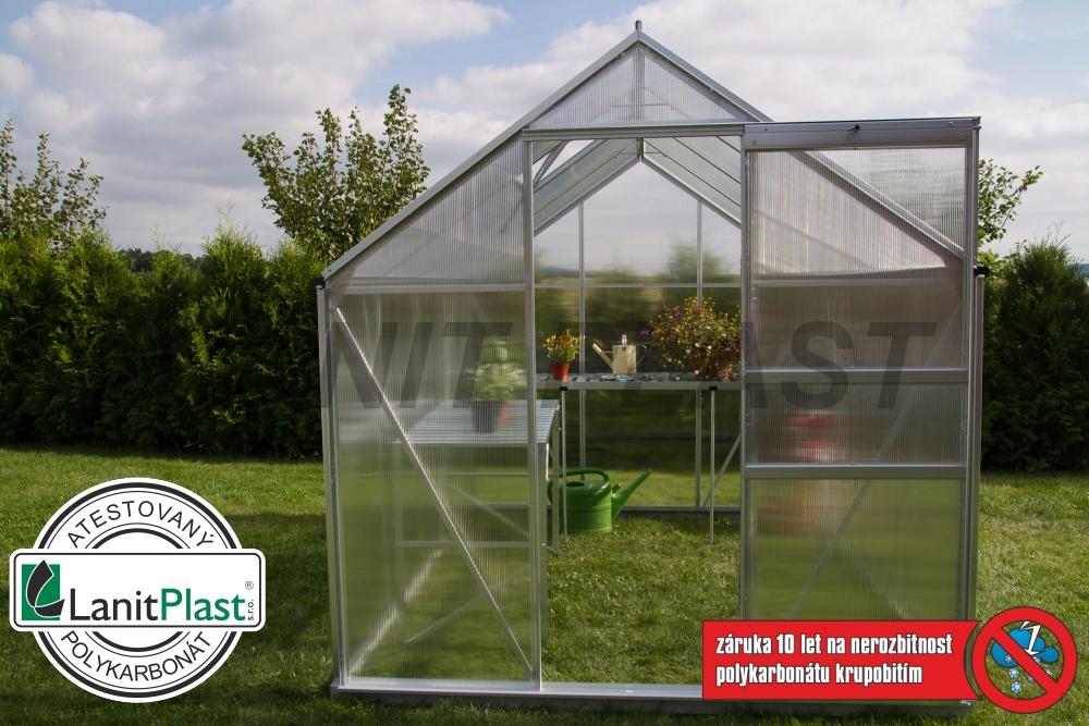 skleník LanitGarden 6x12 - 7300délka 380 cm, set ze základnou