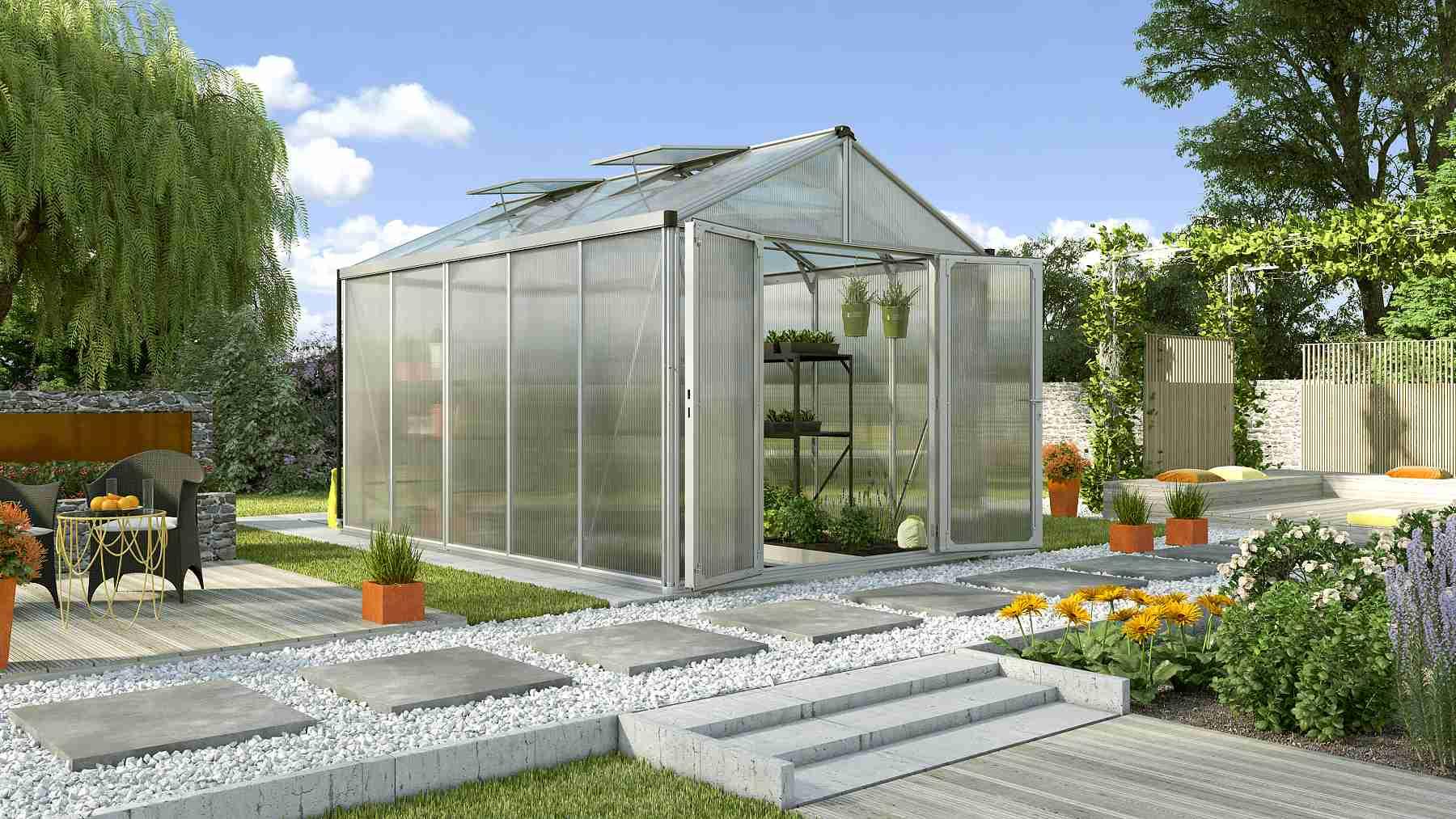 skleník VITAVIA ZEUS 10000 PC 10+10 mm