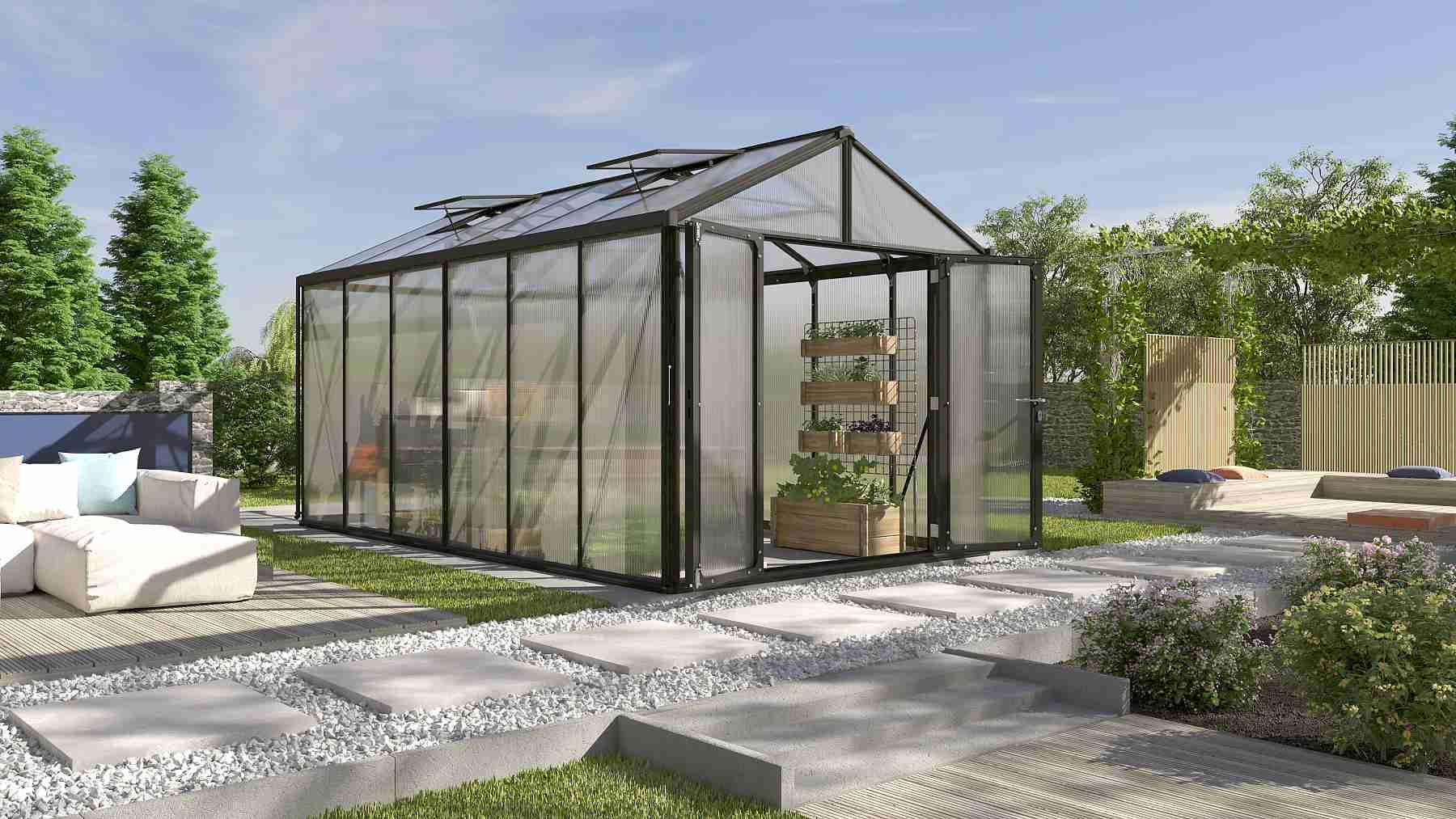 skleník VITAVIA ZEUS 11900 PC 10+10 mm