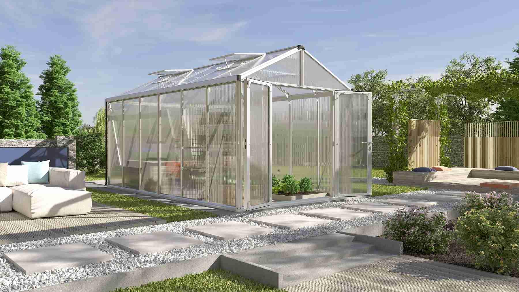 skleník VITAVIA ZEUS 11900 PC 16+16 mm