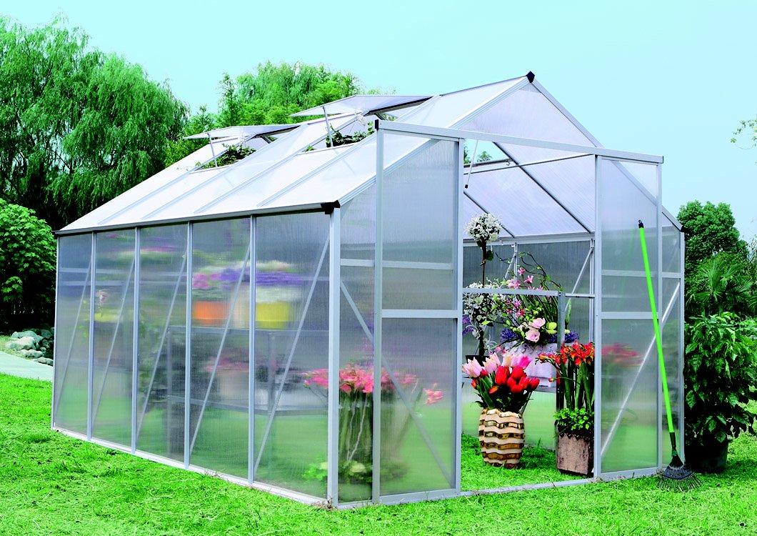 skleník LANITPLAST PLUGIN 8x12 stříbrný