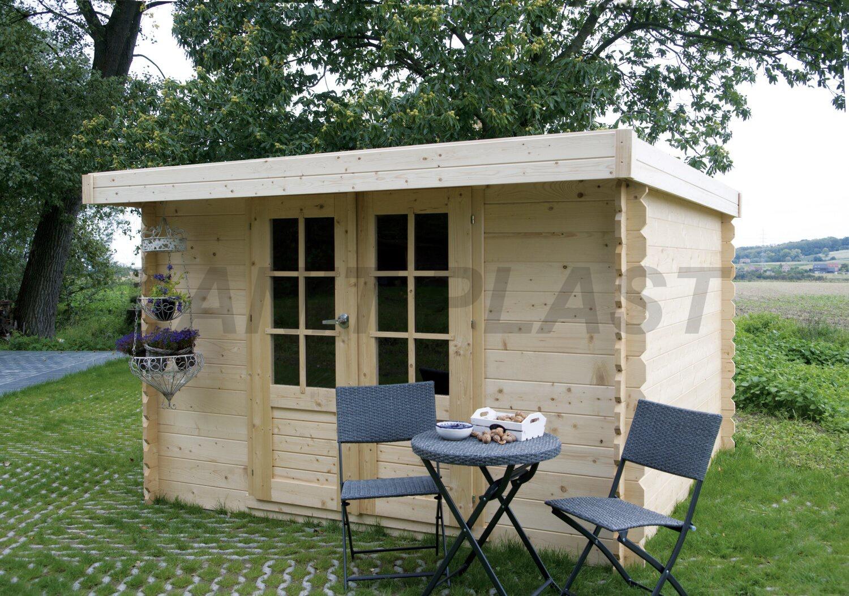 Dřevěný zahradní domek Solid HOF - dveře R4 (S8764)