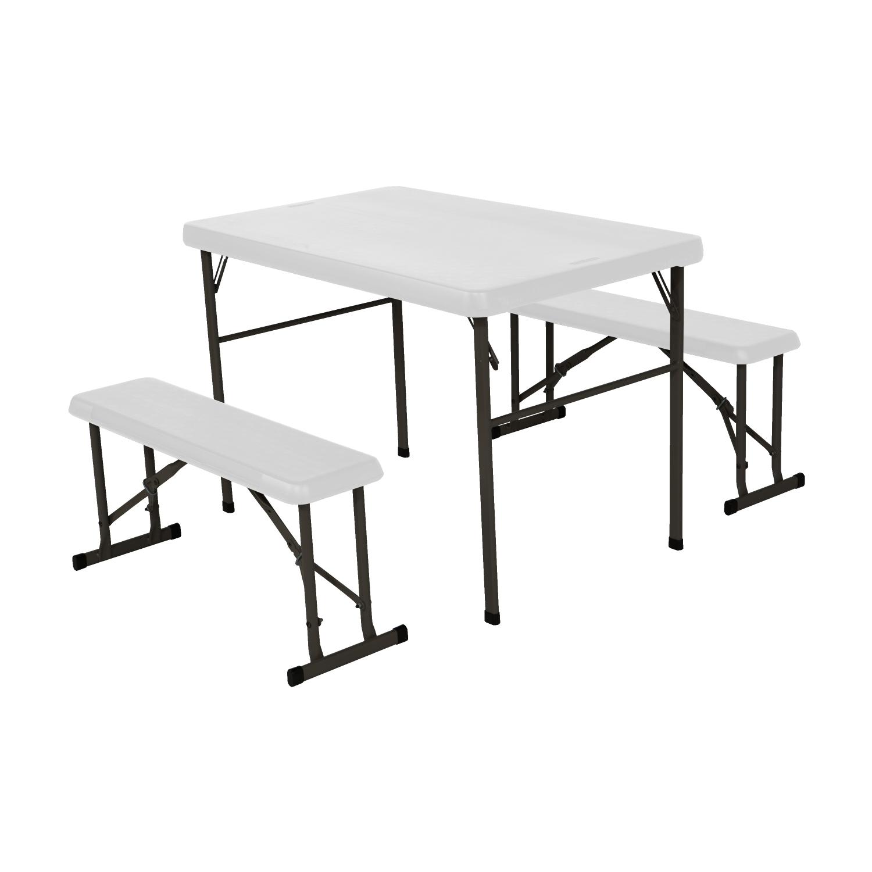 LIFETIME campingový stůl + 2x lavice 80353 / 80352