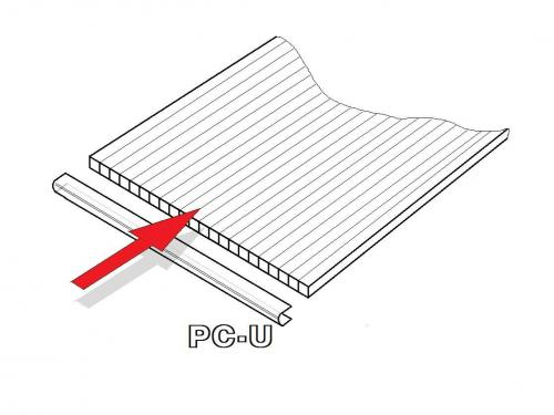 PC U-profily 4 mm pro skleník LANITPLAST DODO 8x5