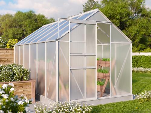 skleník VITAVIA TARGET 7500 PC 4 mm stříbrný
