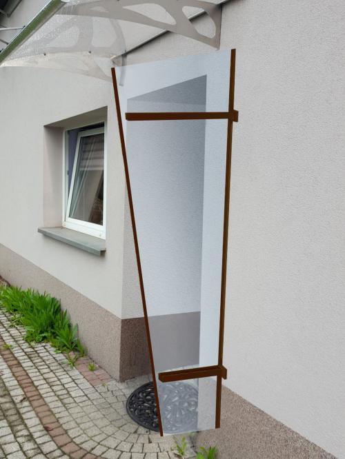boční stěna LANITPLAST UNI hnědá / PLEXI
