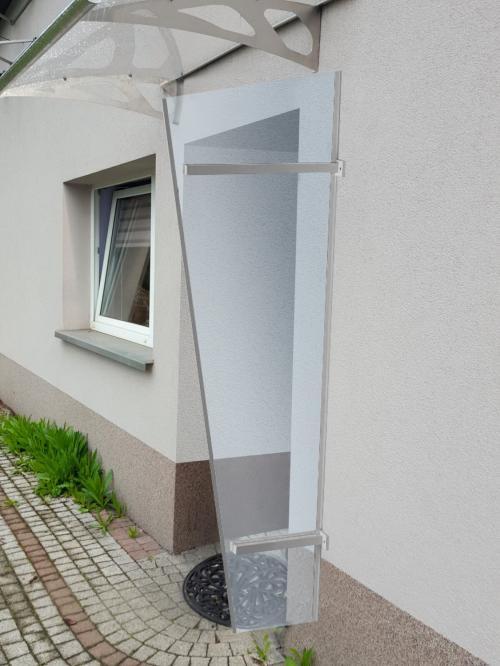 boční stěna LANITPLAST UNI stříbrná / PLEXI