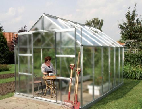skleník VITAVIA URANUS 9900 matné sklo 4 mm stříbrný