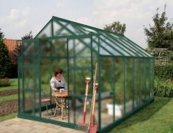 skleník VITAVIA URANUS 11500 matné sklo 4 mm zelený