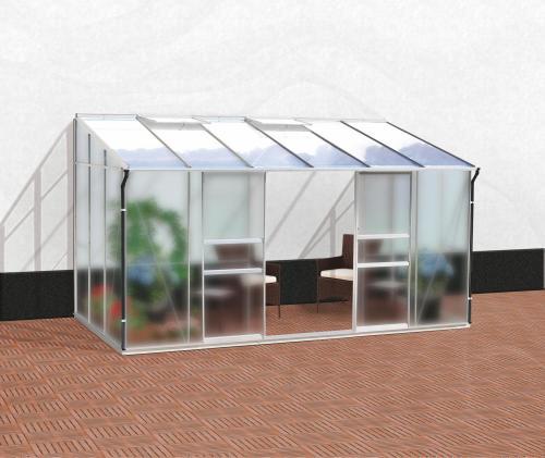 skleník VITAVIA IDA 7800 matné sklo 4 mm + PC 6 mm stříbrný