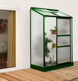 skleník VITAVIA IDA 900 matné sklo 4 mm zelený
