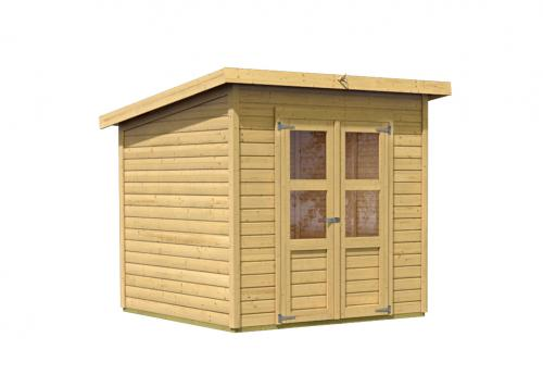 dřevěný domek KARIBU MERSEBURG 4 (68154) natur