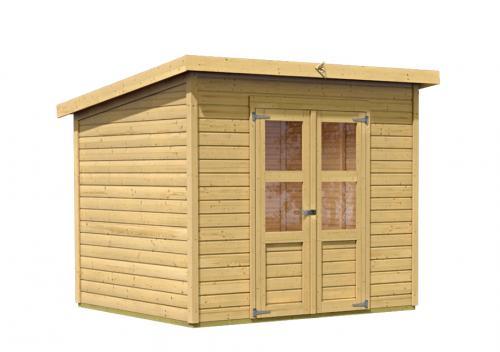 dřevěný domek KARIBU MERSEBURG 5 (68156) natur