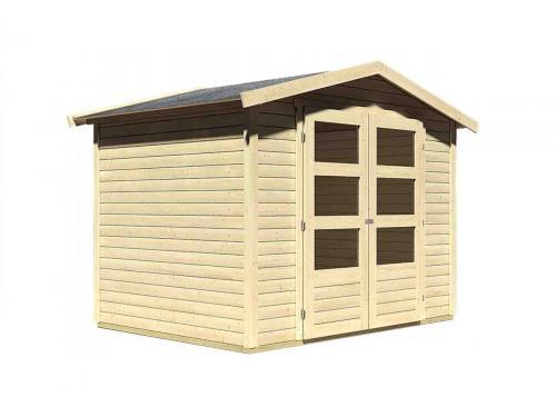 dřevěný domek KARIBU AMBERG 3 (82972) natur