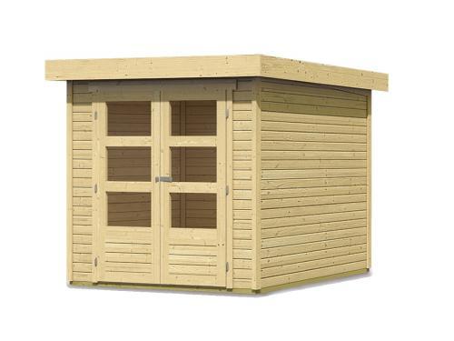 dřevěný domek KARIBU ASKOLA 2 (73059) natur