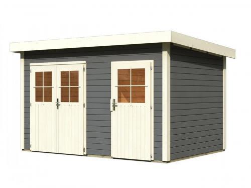 dřevěný domek KARIBU TINTRUP (83140) tm. šedý