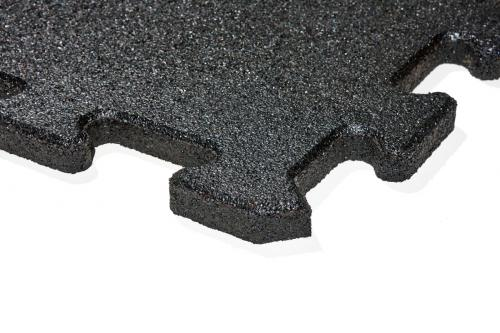 gumová dlažba FUNDUS PUZZLE P25 černá