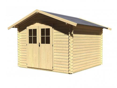 dřevěný domek KARIBU SEEFELD 6 (83137) natur