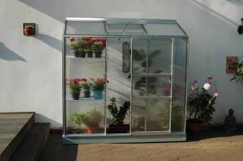 skleník VITAVIA IDA 1300 PC 6 mm stříbrný