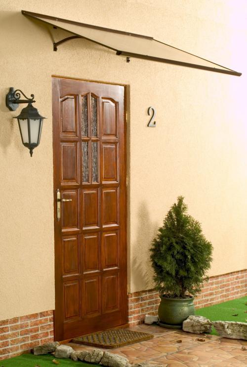 stříška nad dveře LANITPLAST MELES 120/85 hnědá
