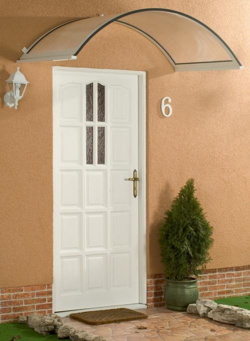 stříška nad dveře LANITPLAST ONYX 250/75 bílá