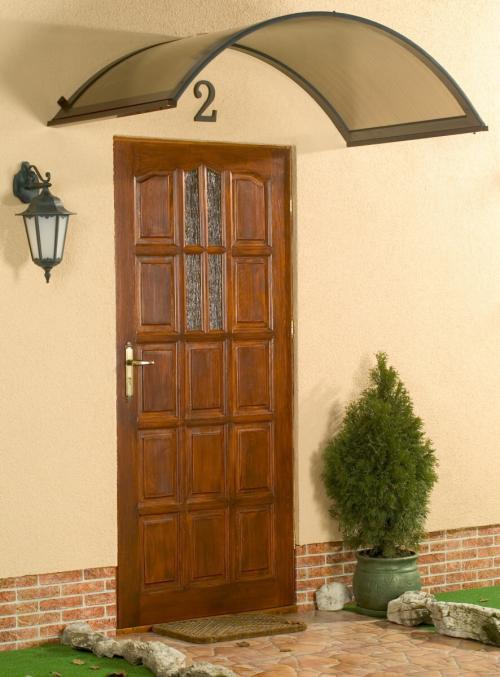 stříška nad dveře LANITPLAST ONYX 160/90 hnědá