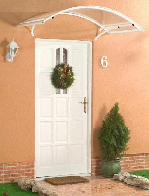 stříška nad dveře LANITPLAST ARCO 160/90 bílá