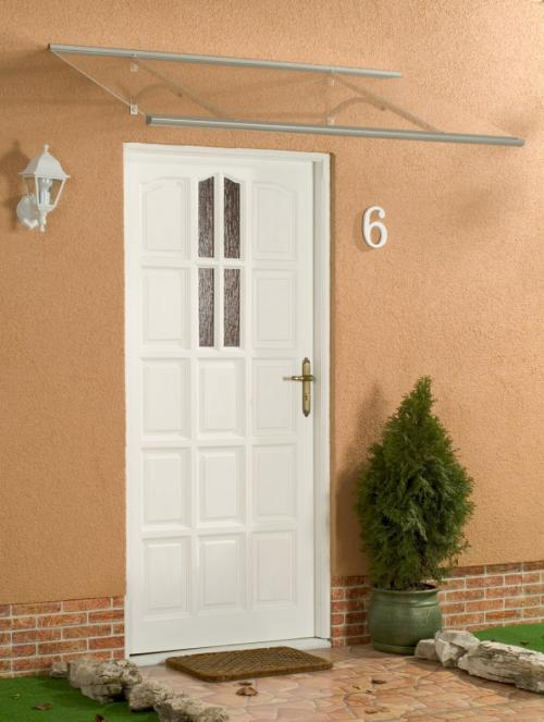stříška nad dveře LANITPLAST OTIS 120/85 stříbrná