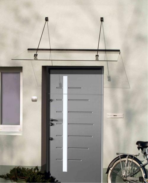 stříška nad dveře LANITPLAST LAZUR 150/97 černá