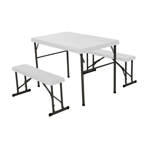 campingový stůl + 2x lavice LIFETIME 80353 / 80352