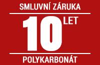 Smluvní záruka 10 let na nerozbitnost polykarbonátu krupobitím
