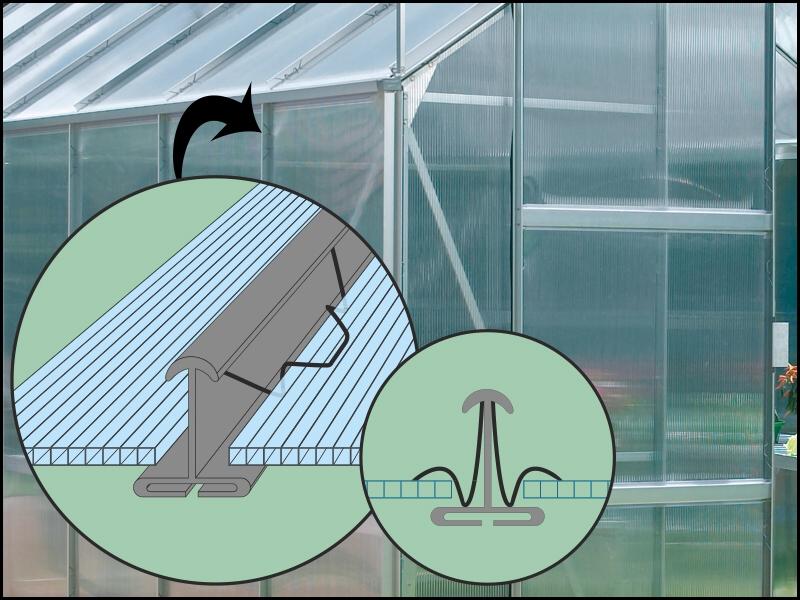 Uchycení polykarbonátu - systém Clips