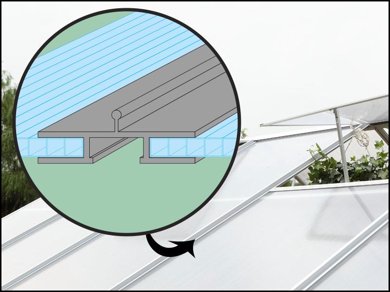 Uchycení polykarbonátu - systém Plugin