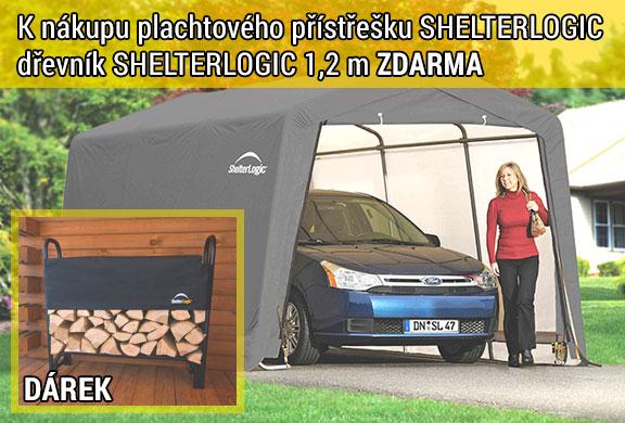 Akce - k přístřeškům SHELTERLOGIC dřevník zdarma