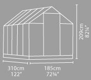 Natur 6x10 - rozměry