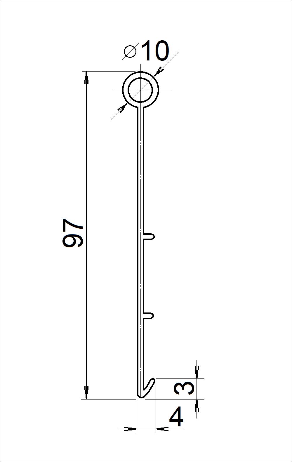 Obrubník JUNIOR - řez